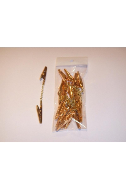 Decoration double Clip-Gold or Silver-1 pack=10 units-100mm long