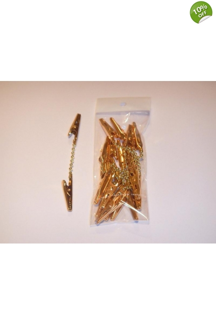 Christmas Decoration double Clip-Gold or Silver-1 pack=10 units-100m
