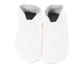 Star - White - baby shoes