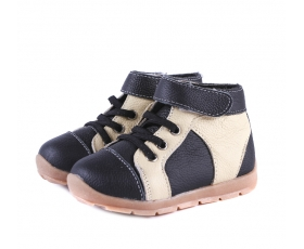 Anklebiters - Black/Cream - toddler boots
