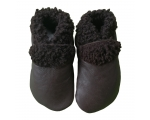 Slinkskin - Wool - Chocolate - toddler shoes
