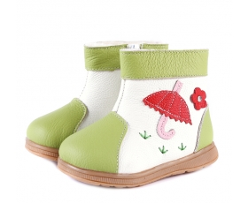 Tadpole - Green -  toddler boots