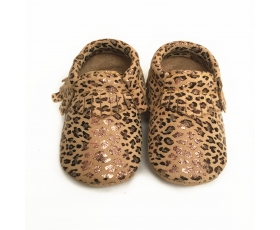 Leopard - Moccasin - baby shoes