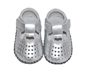 Celebration - silver - baby shoes