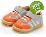 Spunk - Grey - toddler shoes