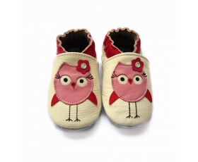 Owl - Soft Soled - baby shoes