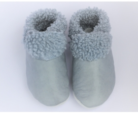 Slinkskin - Wool - Pale Blue/Grey - Baby shoes