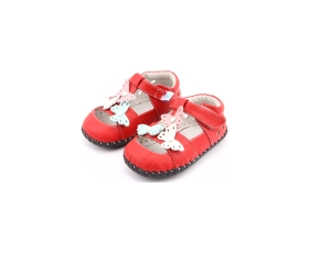 Spring - red - baby shoes