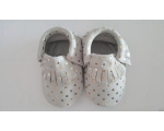 Dot - grey - moccasin - baby shoes