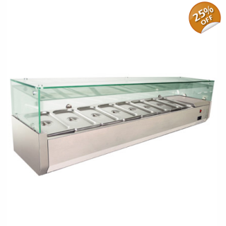 Top Salad Buffet 6 Pan GN 1/3
