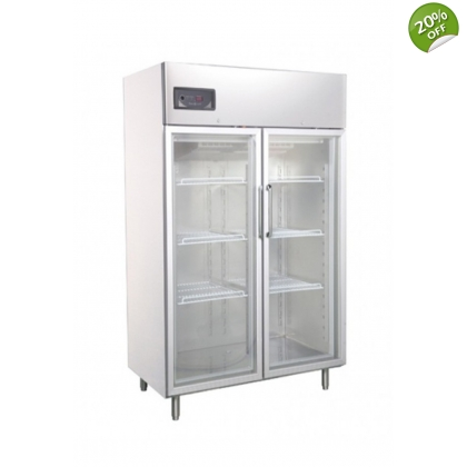 Kitchen Freezers Inox 2 Glass Door