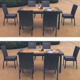 Set Rattan 1 Table 6 Chairs