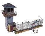 The Walking Dead Prison Tower and Gate Construct..