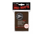 Ultra Pro Brown Pro-Matte Protectors - 50 Sleeve..