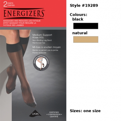 Energizers Medium Support Sheer Knee Highs [style 19289]