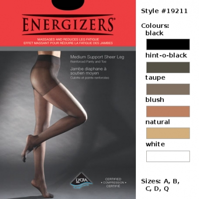 Energizers Medium Support Pantyhose [style 19211]