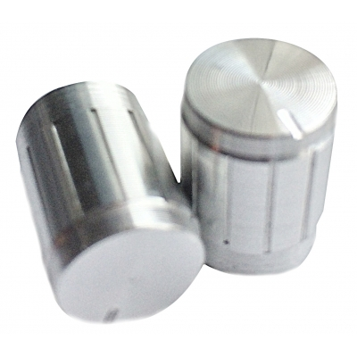 Aluminium-finished 12x17mm knob - silver