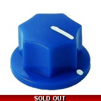 20mm MXR-style fluted knob - Blue