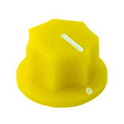 20mm MXR-style fluted knob - Yellow