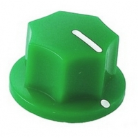 20mm MXR-style fluted knob - Green