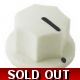 20mm MXR-style fluted knob - White