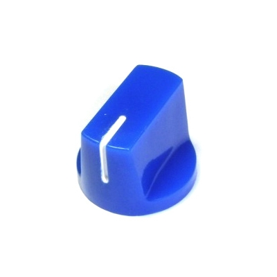 Davies 1510-Style Knob, set screw fitting - Blue