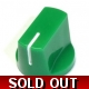 Davies 1510-Style Knob, set screw fitting - Green