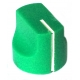 16mm mini Davies 1510-style knob - Green