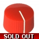 20mm Low Profile Knurled Plastic Knob - Red