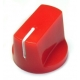 Davies 1510-Style Knob, push fit - Red