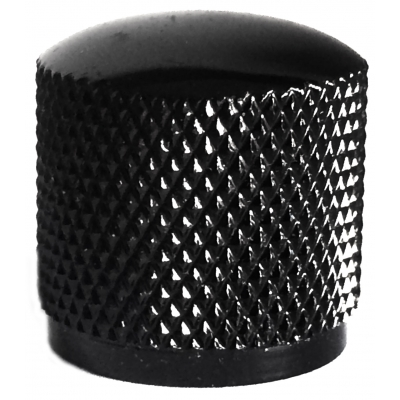 Metal Dome Knob - Knurled, Black