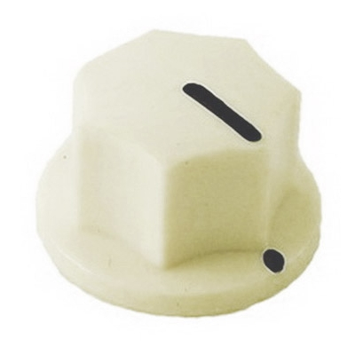 20mm MXR-style fluted knob - Cream