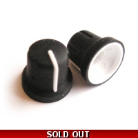 Soft-touch rubber 16x15mm knob - ..