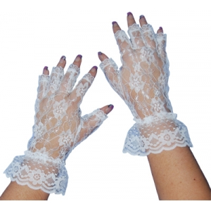 Sweida's Short Lace Fingerless Gloves
