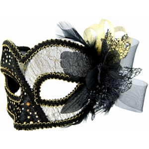 Black Mask with Tulle D..