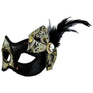Black Mask with Side Bow