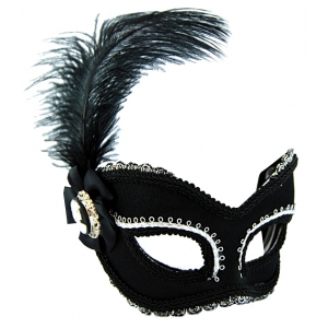 Black and Silver Mask with Feature