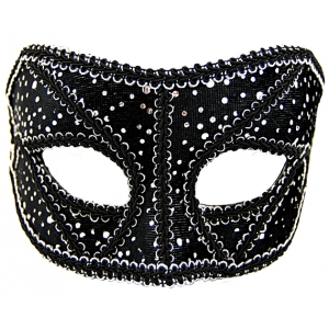 Black and Silver Sequin Mask