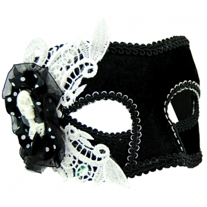 Black and White Mask with Lace