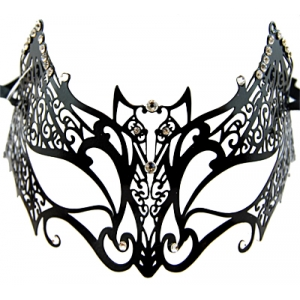 Black Bat Metal Masquerade Mask
