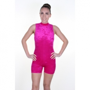 Lauren Sleeveless Polo Unitard - Velvet
