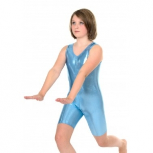Lexi Sleeveless Liquid Foil Unitard