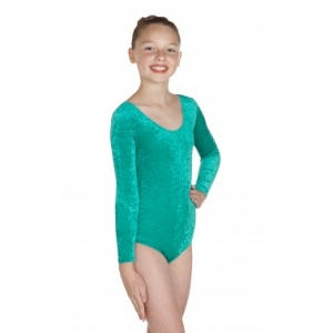 Keely Long Sleeved Velvet Dance Leotard