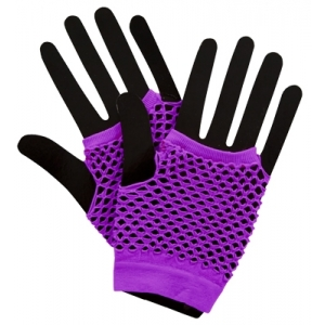 Sweida's Short Fishnet Punk Gloves