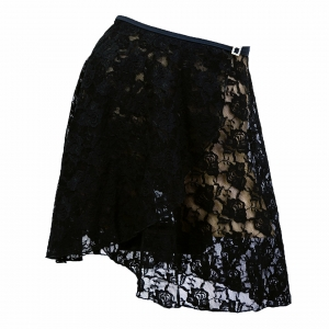 Long Wrap Lace Skirt