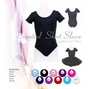 Essential Short Sleeve Leotard