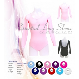 Essential Long Sleeve Leotard with Low..