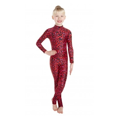 Elsa Red Leopard Print Catsuit title=