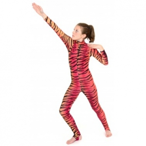 Elsa Red/Orange Tiger Catsuit