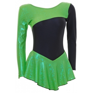 Skater Dress Long Sleeves Green/Black ..